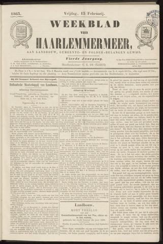 Weekblad van Haarlemmermeer 1863-02-13