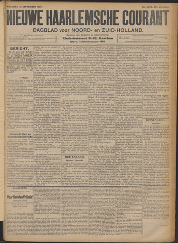 Nieuwe Haarlemsche Courant 1907-09-16