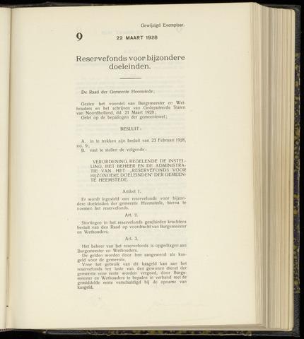 Raadsnotulen Heemstede 1928-03-22