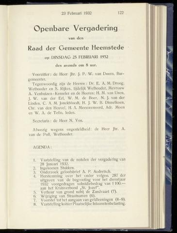 Raadsnotulen Heemstede 1932-02-23