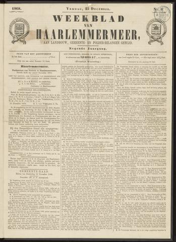 Weekblad van Haarlemmermeer 1868-12-25