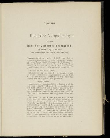 Raadsnotulen Heemstede 1916-06-07