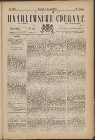 Nieuwe Haarlemsche Courant 1889-02-20