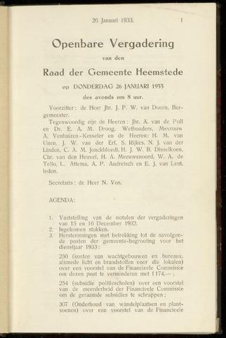 Raadsnotulen Heemstede 1933-01-26