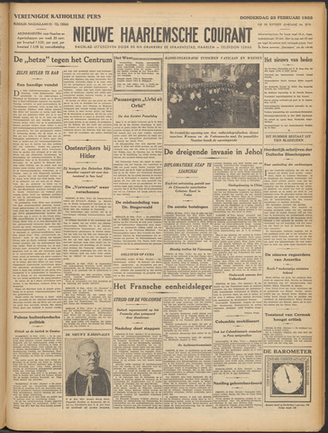 Nieuwe Haarlemsche Courant 1933-02-23