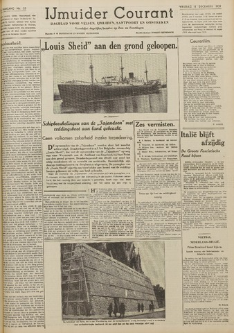 IJmuider Courant 1939-12-08