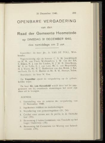 Raadsnotulen Heemstede 1940-12-31