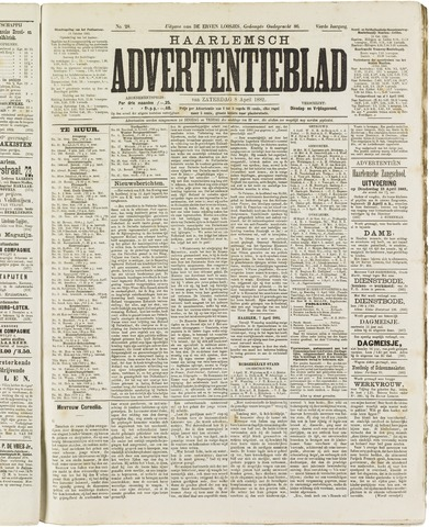 Haarlemsch Advertentieblad 1882-04-08