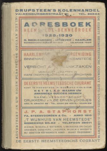 Adresboeken Heemstede, Bennebroek 1929