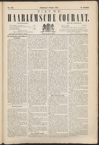 Nieuwe Haarlemsche Courant 1884-10-09