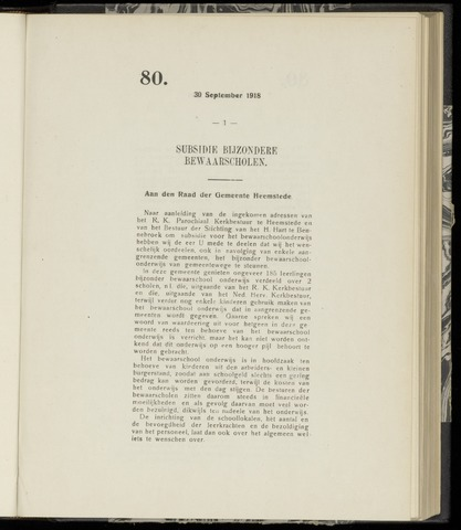 Raadsnotulen Heemstede 1918-09-30