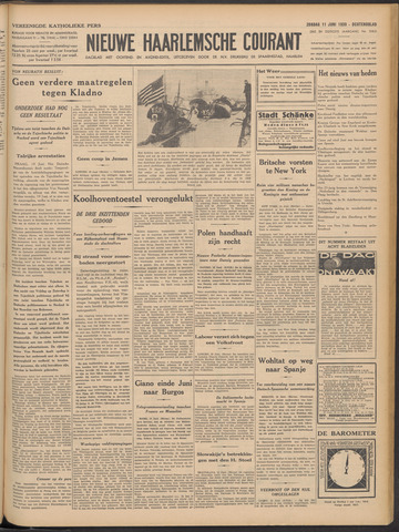 Nieuwe Haarlemsche Courant 1939-06-11