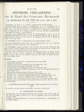 Raadsnotulen Heemstede 1963-07-25