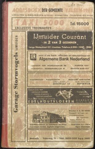 Adresboeken Velsen 1968