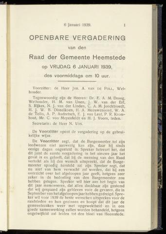 Raadsnotulen Heemstede 1939-01-06