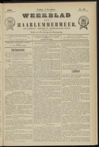 Weekblad van Haarlemmermeer 1884-11-07