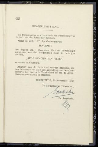 Raadsnotulen Heemstede 1942-11-30
