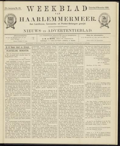 Weekblad van Haarlemmermeer 1886-11-06