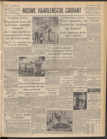 Nieuwe Haarlemsche Courant 1958-01-25