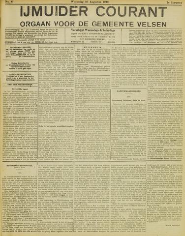 IJmuider Courant 1922-08-30