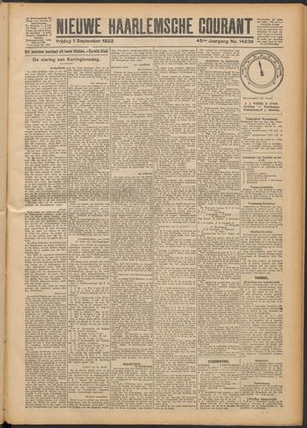 Nieuwe Haarlemsche Courant 1922-09-01