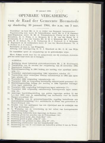 Raadsnotulen Heemstede 1964-01-30