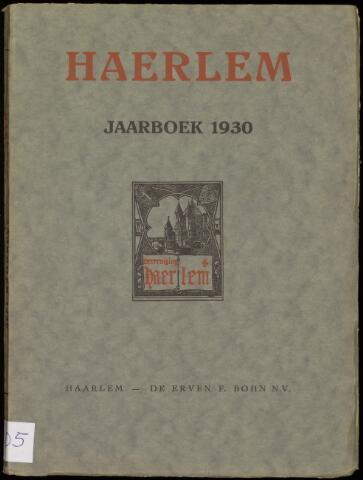 Jaarverslagen en Jaarboeken Vereniging Haerlem 1930