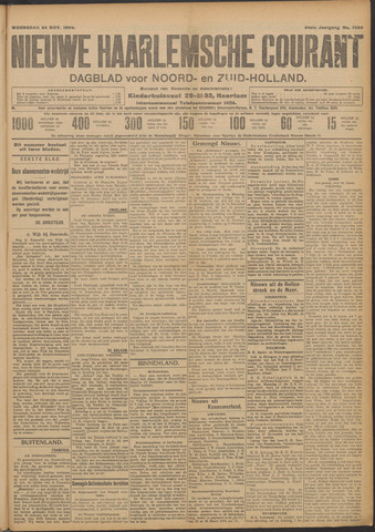 Nieuwe Haarlemsche Courant 1909-11-24