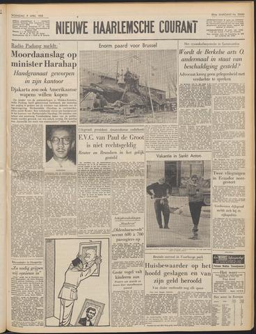 Nieuwe Haarlemsche Courant 1958-04-09