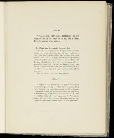 Raadsnotulen Heemstede 1911-06-01