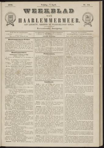 Weekblad van Haarlemmermeer 1876-04-07