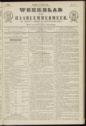 Weekblad van Haarlemmermeer 1882-02-03