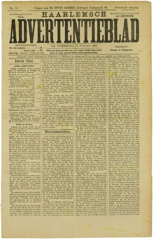 Haarlemsch Advertentieblad 1895-02-13