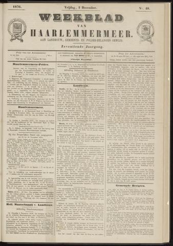 Weekblad van Haarlemmermeer 1876-12-01