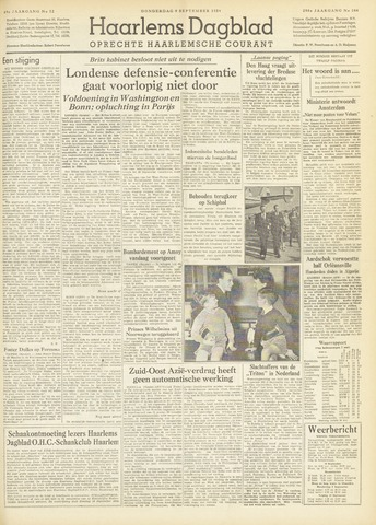 Haarlem's Dagblad 1954-09-09