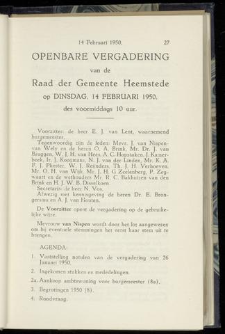 Raadsnotulen Heemstede 1950-02-14