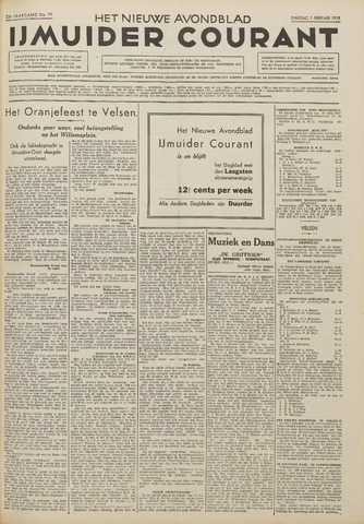 IJmuider Courant 1938-02-01