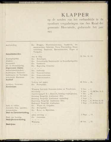 Raadsnotulen Heemstede 1913