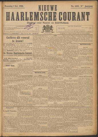 Nieuwe Haarlemsche Courant 1906-10-01