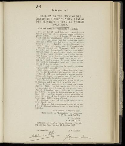 Raadsnotulen Heemstede 1917-10-24