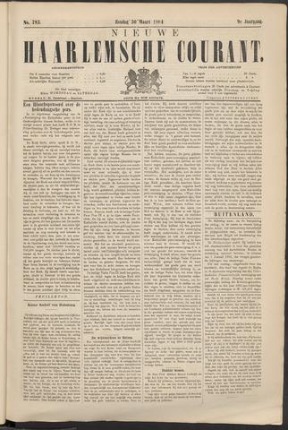 Nieuwe Haarlemsche Courant 1884-03-30