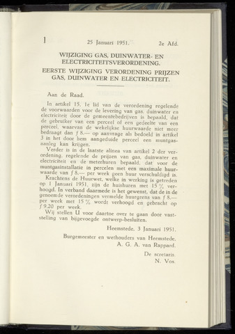 Raadsnotulen Heemstede 1951-01-25