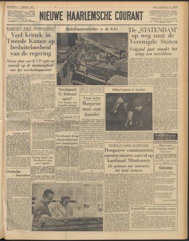 Nieuwe Haarlemsche Courant 1957-02-07