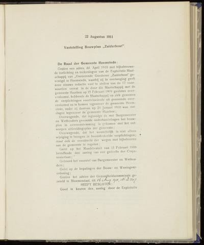 Raadsnotulen Heemstede 1911-08-22