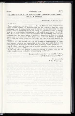 Raadsnotulen Heemstede 1971-10-28