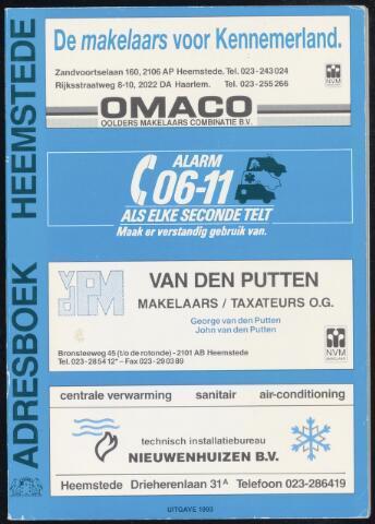 Adresboeken Heemstede 1993