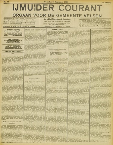 IJmuider Courant 1922-09-13