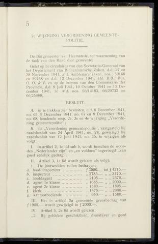 Raadsnotulen Heemstede 1942-01-13