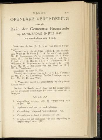 Raadsnotulen Heemstede 1948-07-29