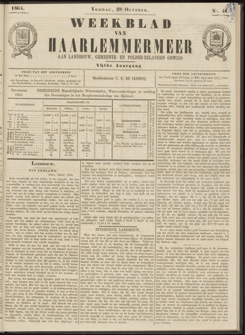 Weekblad van Haarlemmermeer 1864-10-28